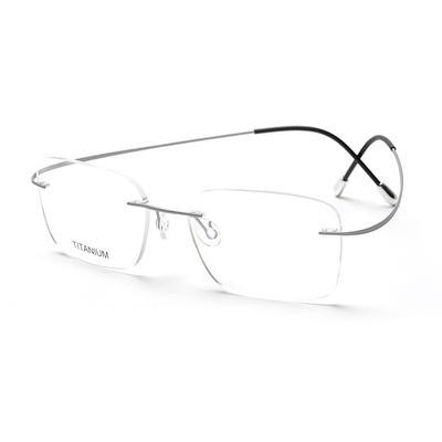 Titanium Prescription Eyeglasses 16016 with Custom Logo
